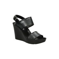Sandały Bronx  SANDAŁY  84342. Czarne sandały damskie marki Bronx, z materiału. Za 119,99 zł.