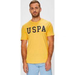 U.S. Polo - T-shirt. Pomarańczowe koszulki polo marki U.S. Polo, l, z nadrukiem, z bawełny. W wyprzedaży za 99,90 zł.