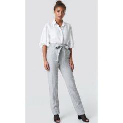Spodnie damskie: MANGO Spodnie Paper - Grey