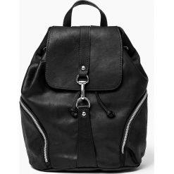 Plecaki damskie: Skóra naturalna – czarny plecak SARA