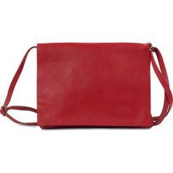 """Torebki klasyczne damskie: Skórzana torebka """"Ramona"""" w kolorze czerwonym – 24 x 18 x 1 cm"""