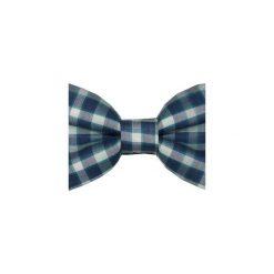 Mucha gotowa bowstyle Niebieska kratka. Szare muchy męskie marki Mayoral, l, z bawełny, z klasycznym kołnierzykiem. Za 75,00 zł.