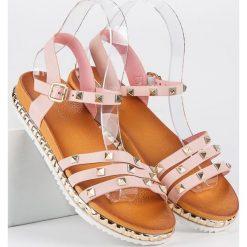 Rockowe płaskie sandały ANESIA PARIS różowe. Czarne sandały damskie marki ANESIA PARIS. Za 69,00 zł.