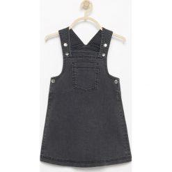 Odzież dziecięca: Jeansowa spódnica na szelkach - Szary