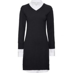 Sukienka dzianinowa bonprix czarno-biały. Czarne sukienki balowe marki Reserved. Za 149,99 zł.