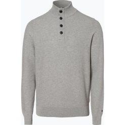Tommy Hilfiger - Sweter męski, szary. Szare swetry klasyczne męskie TOMMY HILFIGER, l, z podwójnym kołnierzykiem. Za 539,95 zł.