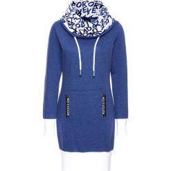 Długie sukienki: Sukienka dresowa, długi rękaw bonprix kobaltowy