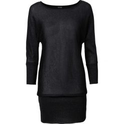 Sweter z lureksową nitką bonprix czarny. Czarne swetry klasyczne damskie bonprix. Za 99,99 zł.