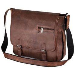 Solier FEDERICO Torba na ramię Męska casual Vintage Brąz. Brązowe torby na ramię męskie marki Kazar, ze skóry, przez ramię, małe. Za 122,58 zł.
