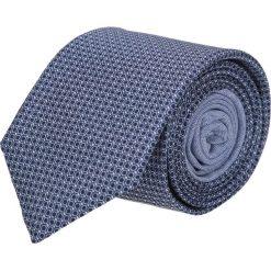Krawat winman granatowy classic 206. Niebieskie krawaty męskie Recman, w geometryczne wzory, z bawełny. Za 129,00 zł.