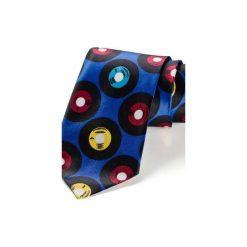Krawat męski WINYLE NIEBIESKI. Czerwone krawaty męskie HisOutfit, z materiału. Za 129,00 zł.