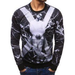 Bluzy męskie: Bluza męska fullprint czarna (bx1975)