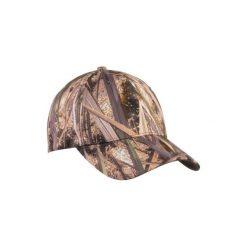Czapka z daszkiem WF100D A MLC. Szare czapki z daszkiem męskie marki SOLOGNAC, z bawełny. Za 29,99 zł.