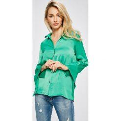 Answear - Koszula. Szare koszule wiązane damskie ANSWEAR, l, z poliesteru, casualowe, z długim rękawem. W wyprzedaży za 69,90 zł.