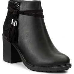 Botki JENNY FAIRY - LS4256-03 Czarny. Czarne buty zimowe damskie marki Jenny Fairy, z materiału, na obcasie. Za 119,99 zł.