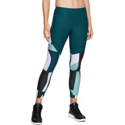 Spodnie damskie: Under Armour Legginsy damskie Balance Printed Crop zielone r. M (1305434-716)