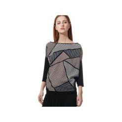 BLUZKA KAJA. Szare bluzki asymetryczne Unicorno, m, z elastanu, z dekoltem na plecach. Za 132,30 zł.