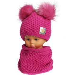Czapka dziecięca z kominkiem CZ+K 173D różowa r. 48-50. Czerwone czapeczki niemowlęce Proman. Za 62,96 zł.