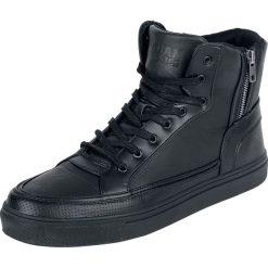 Urban Classics Zipper High Top Shoe Buty sportowe czarny. Czarne buty skate męskie marki Urban Classics, z aplikacjami, z materiału. Za 199,90 zł.