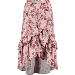 Długie spódnice: NAKD OVERLAP MAXI FRILL SKIRT Spódnica z zakładką pink