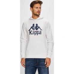 Kappa - Bluza. Szare bejsbolówki męskie Kappa, m, z nadrukiem, z bawełny, z kapturem. W wyprzedaży za 99,90 zł.