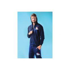 Bluza męska. Niebieskie bluzy męskie rozpinane marki TXM, m, z aplikacjami, z bawełny. Za 29,99 zł.