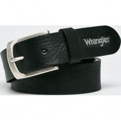 Wrangler - Pasek skórzany. Czarne paski męskie Wrangler, w paski, z materiału. Za 189,90 zł.