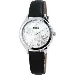 Biżuteria i zegarki: QBOS Silver Flower Zegarek na rękę czarny