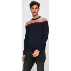 Tom Tailor Denim - Sweter. Czarne swetry klasyczne męskie TOM TAILOR DENIM, m, z bawełny, z okrągłym kołnierzem. Za 219,90 zł.