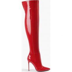 Buty zimowe damskie: Kozaki czerwone Elena