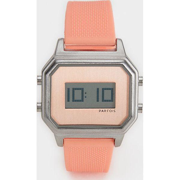 c1287bbd906aa3 Parfois - Zegarek - Pomarańczowe zegarki damskie Parfois, ze stali. Za  129,90 zł. - Zegarki damskie - Biżuteria i zegarki damskie - Biżuteria i  zegarki ...
