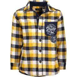 Blue Seven - Koszula dziecięca 92-128 cm. Niebieskie koszule chłopięce Blue Seven, w kratkę, z bawełny, z klasycznym kołnierzykiem, z długim rękawem. W wyprzedaży za 49,90 zł.