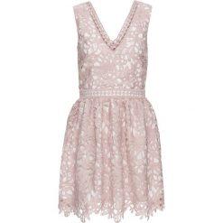 Sukienki: Sukienka koronkowa bonprix różowo-biel wełny