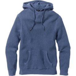 Sweter z kapturem Regular Fit bonprix niebieski dżins melanż. Czarne swetry klasyczne męskie marki Reserved, m, z kapturem. Za 74,99 zł.