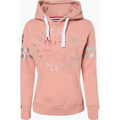 Superdry - Damska bluza nierozpinana, różowy. Czerwone bluzy sportowe damskie marki Superdry, m, z nadrukiem, z materiału, z kapturem. Za 299,95 zł.