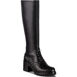 Kozaki UNISA - Grazia Sua Str Black. Czarne buty zimowe damskie marki Unisa, z materiału. W wyprzedaży za 469,00 zł.