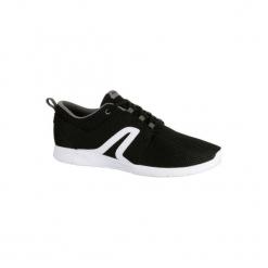 Buty męskie do szybkiego marszu Soft 140 siateczka czarno-białe. Czarne buty fitness męskie NEWFEEL, z poliesteru. Za 69,99 zł.