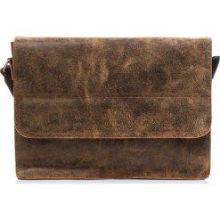 Brązowa SKÓRZANA TORBA MĘSKA NA RAMIĘ  PAOLO PERUZZI. Brązowe torby na ramię męskie marki Kazar, ze skóry, przez ramię, małe. Za 289,00 zł.
