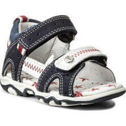 Sandały BARTEK - 11824-497 II Niebiesko Biały. Niebieskie sandały chłopięce Bartek, z nubiku. W wyprzedaży za 139,00 zł.