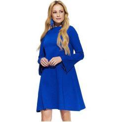 Makadamia Sukienka Damska 42 Niebieska. Niebieskie sukienki z falbanami marki Makadamia. W wyprzedaży za 165,00 zł.