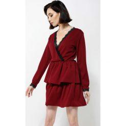 Bordowa Sukienka Deep Love. Czerwone sukienki mini marki other, uniwersalny. Za 69,99 zł.