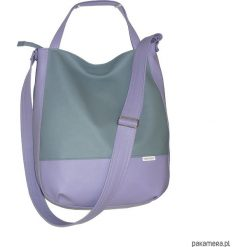 Fioletowa torba listonoszka, worek na lato lila. Fioletowe shopper bag damskie Pakamera, do ręki. Za 116,00 zł.