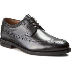Półbuty CLARKS - Coling Limit 261193767 Black Leather. Czarne półbuty skórzane męskie marki Clarks. W wyprzedaży za 439,00 zł.