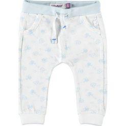 Spodnie niemowlęce: Spodnie dresowe w kolorze błękitno-kremowym
