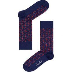 Happy Socks - Skarpetki (7-pack). Niebieskie skarpetki damskie Happy Socks, z bawełny. W wyprzedaży za 179,90 zł.