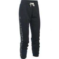 Bryczesy damskie: Under Armour Spodnie Dresowe Favorite Fleece Pant Black White Xs