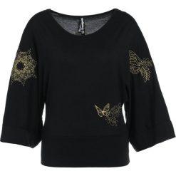 Desigual KIMONO EXORBIDANCE Bluzka z długim rękawem black. Czarne topy sportowe damskie Desigual, m, z bawełny, sportowe, z długim rękawem. Za 229,00 zł.