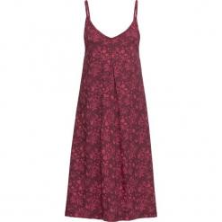Sukienka shirtowa z nadrukiem bonprix czerwień granatu. Czerwone sukienki z falbanami marki bonprix, z nadrukiem. Za 34,99 zł.
