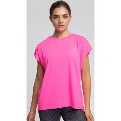 Bluzki damskie: Koszulka treningowa damska TSDF207 - różowy neon