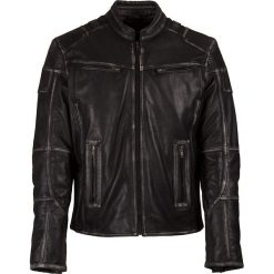 Kurtki męskie: Skórzana kurtka w kolorze antracytowym